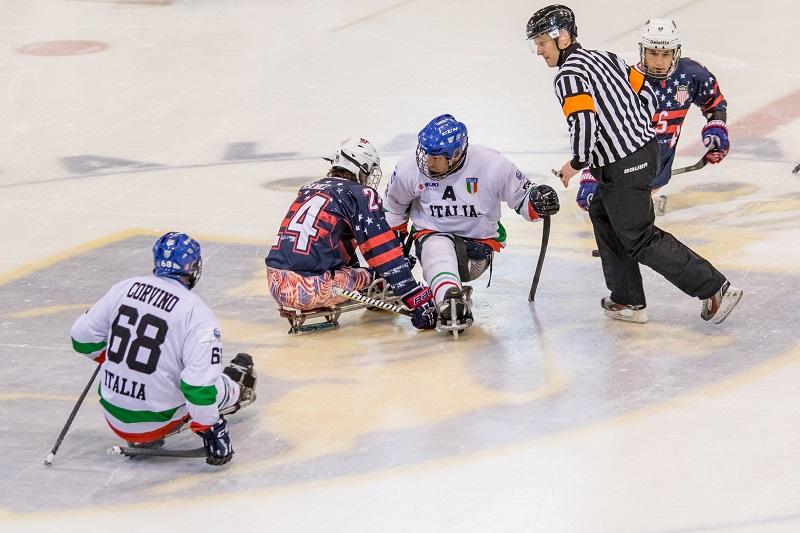 Italia-USA para ice hockey